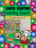 Winter Christmas Writing Craftivity Santa Sighting