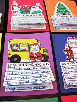 Christmas Writing Crafts Bundle (14 NO PREP Writing Activities)