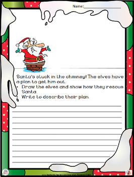 Christmas Writing: Draw a Little, Write a Little FREE SAMPLE