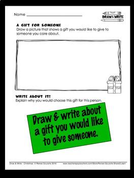 Christmas Writing Draw and Write