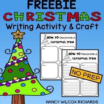 Christmas Writing Activity FREEBIE with Craft, K-2