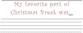 Christmas Writing - Favorite Part