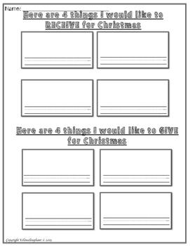 Christmas Writing Free