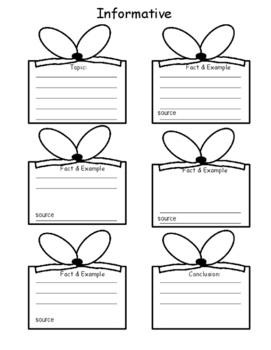 Christmas Writing Graphic Organizers
