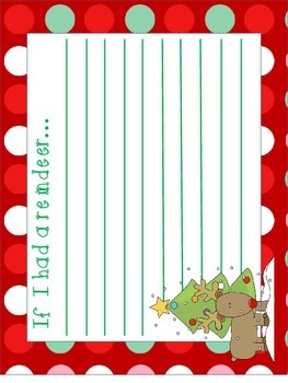Christmas Writing: If were an elf/If I had a reindeer