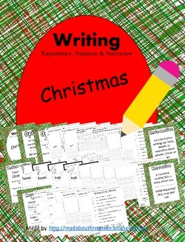 Christmas Writing Informative Opinion Narrative CCSS