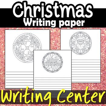Christmas Writing Line Paper