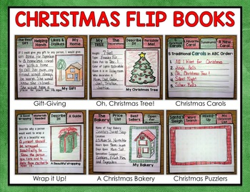 Christmas Activities Mini Flip Book Writing Projects