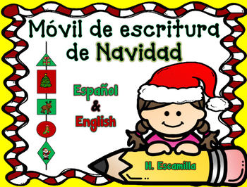 Christmas Writing Mobile in Spanish & English