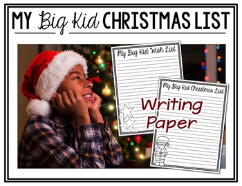 Christmas Writing:  My Grown-Up Christmas List