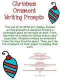 Christmas Writing Ornament Story Starters