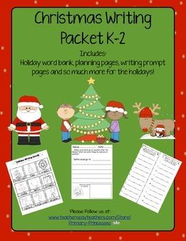 Christmas Writing Packet K-2