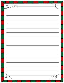 Christmas Writing Page
