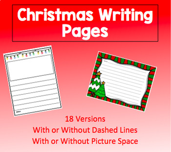 Christmas Writing Page with Guided Lines