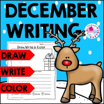 Christmas Writing Pages, Draw Label Write & Color