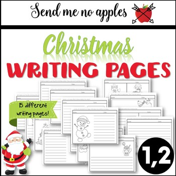 Christmas Writing Pages - Kindergarten, 1st grade, 2nd grade