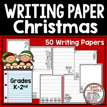 Christmas Writing Paper K-2nd