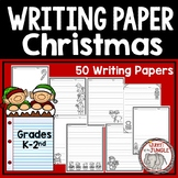 Christmas Writing Paper K-2nd