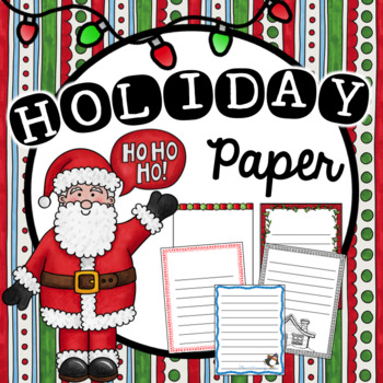 Christmas/Holiday Writing Paper