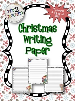 Christmas Writing Paper (3 DESIGNS! 2 LINE VERSIONS!)