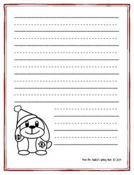 Writing Paper Templates - Christmas Theme