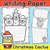 Christmas Writing Paper - Christmas Cactus Theme