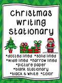 Christmas Writing Paper--Christmas Writing Stationary--DIFFERENTIATED