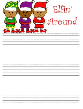 Christmas Writing Paper (D'Nealian)