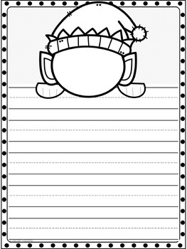 Christmas Writing Paper (Draw Your Face!)