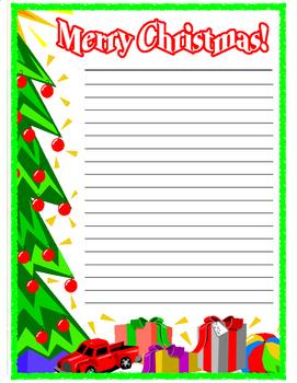 Christmas Writing Paper Freebie