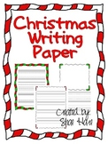 Christmas Writing Paper Handwriting Candy Cane Holly