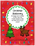 Christmas Stationery- Lined Writing Paper with Fun Borders to Color!