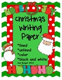 Christmas Writing Paper: Lined, Unlined, Color, and Black