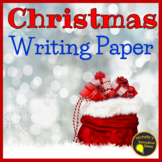 Christmas Writing Paper   Shape and Lined Templates