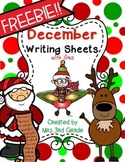 December Writing Paper WITH Lines
