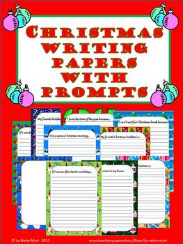 Christmas Writing Paper with Prompts