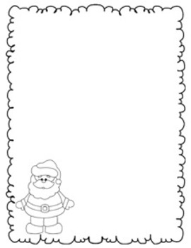 Christmas Writing Papers - Black & White - 3 Styles