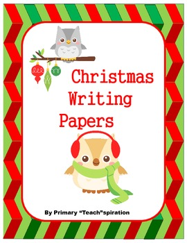 Christmas Writing Papers ~ Free