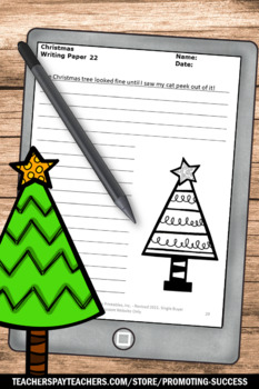 Christmas Writing Papers Black and White Literacy Center Activities