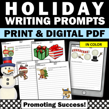 Christmas Writing Papers Picture Prompts Literacy Centers