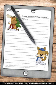 Christmas Writing Papers for Literacy Centers Activities