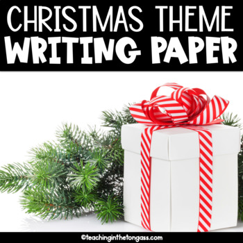 Christmas Writing Paper Free (Lined Writing Paper)