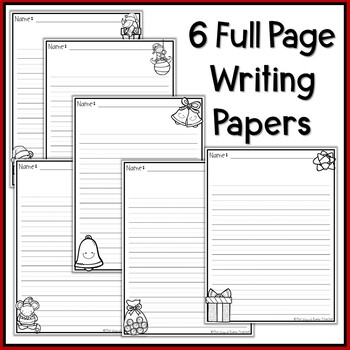 Christmas Writing Papers and Prompts