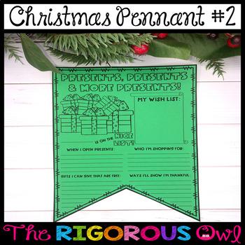 Christmas Writing Pennants