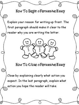Christmas Writing: Persuasive Essay
