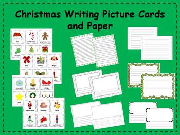 Christmas Writing Picture Cards and Paper Center