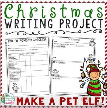 Christmas Writing Project: Make a Pet Elf!!  Tons of Printables