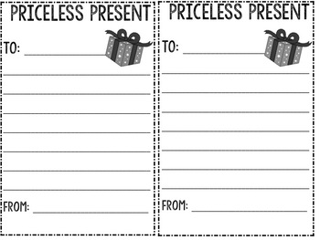 Christmas Writing Prompt - Priceless Presents