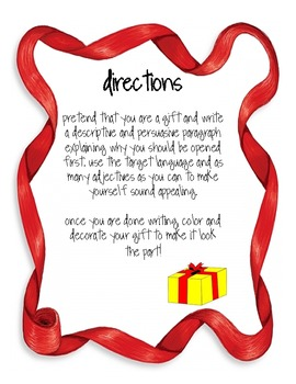 Christmas- Writing Prompt and Craftivity- ABRAME