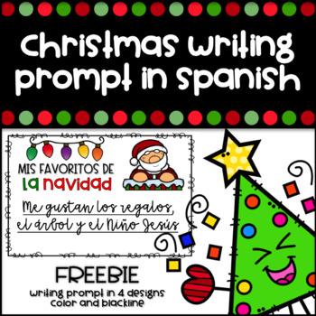 Christmas Writing Prompt in Spanish - Escritura de Navidad